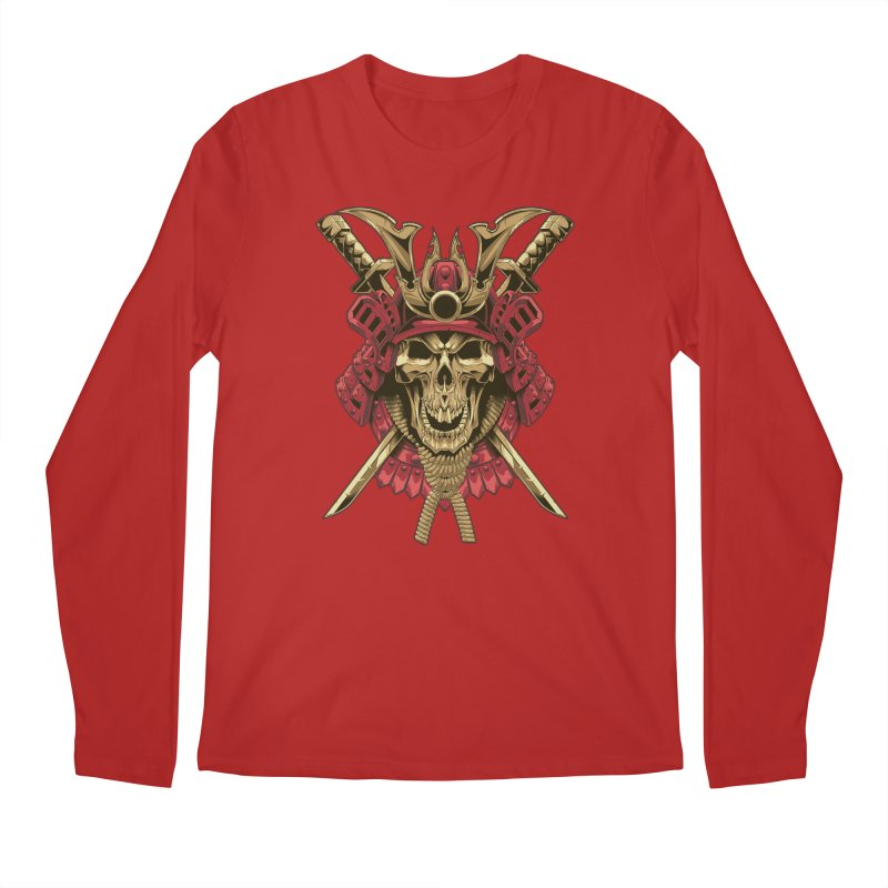 skull samurai Men's Longsleeve T-Shirt by fishark's Artist Shop