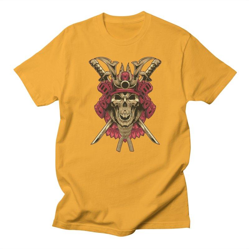 skull samurai Men's T-Shirt by fishark's Artist Shop