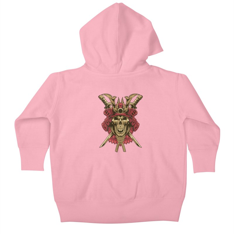 skull samurai Kids Baby Zip-Up Hoody by fishark's Artist Shop