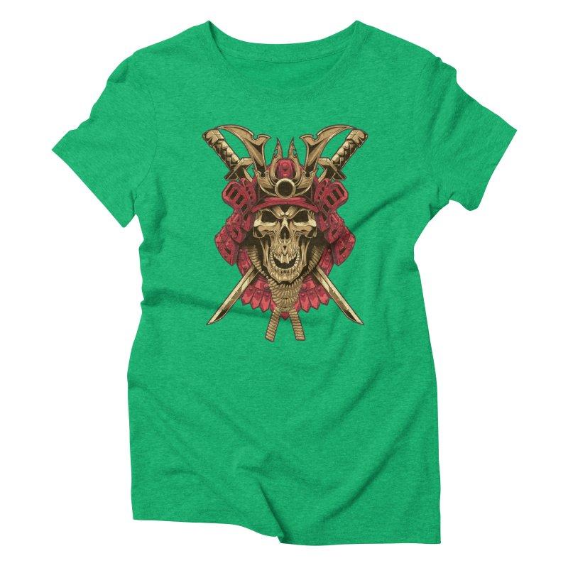 skull samurai Women's Triblend T-Shirt by fishark's Artist Shop