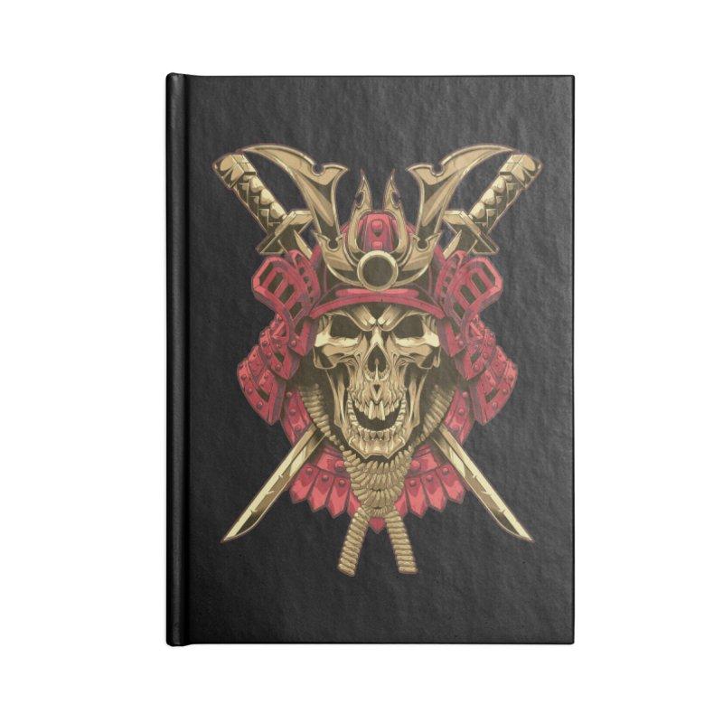 skull samurai Accessories Notebook by fishark's Artist Shop