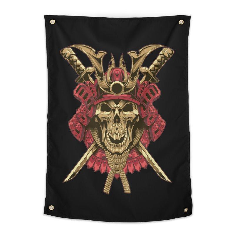 skull samurai Home Tapestry by fishark's Artist Shop
