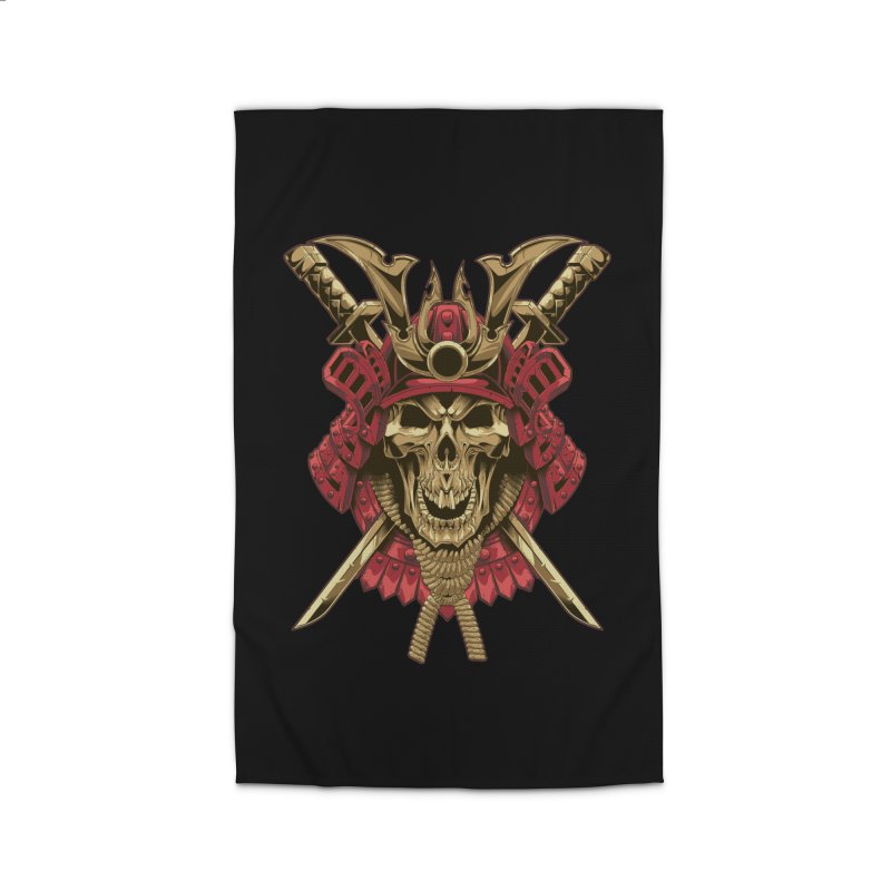skull samurai Home Rug by fishark's Artist Shop