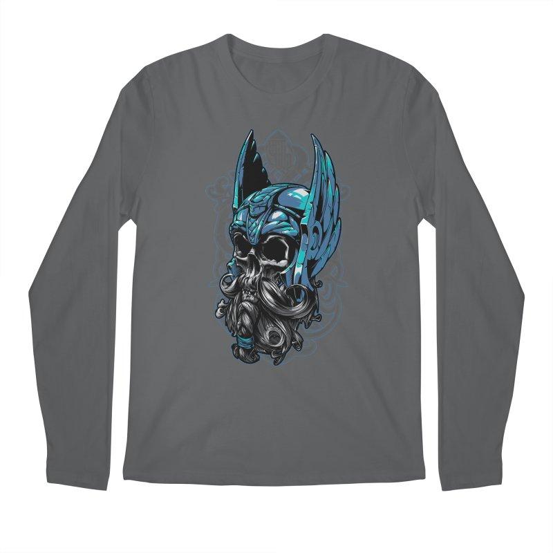 Skull viking Men's Longsleeve T-Shirt by fishark's Artist Shop
