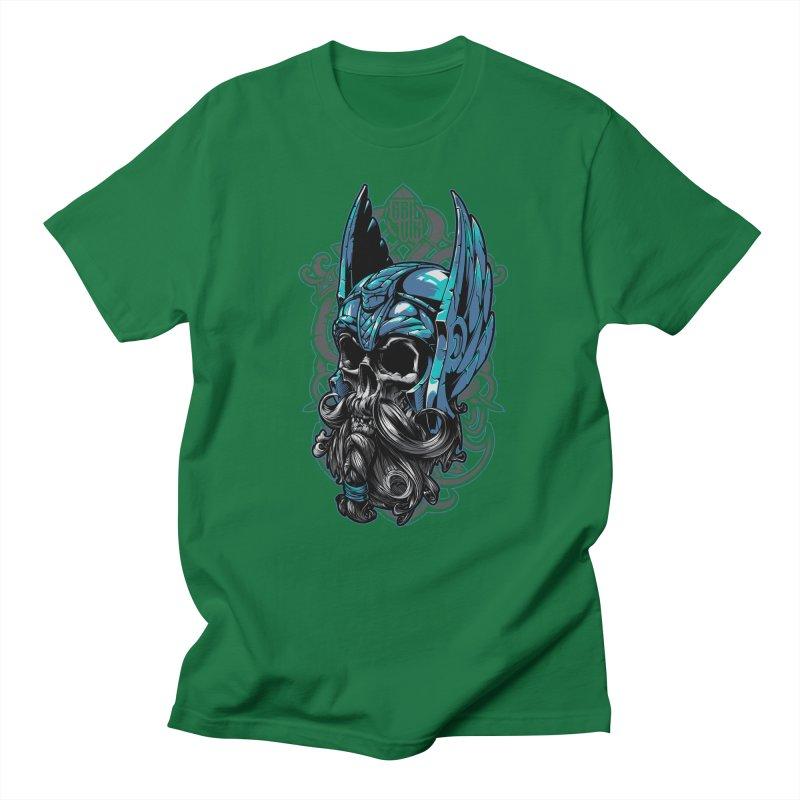 Skull viking Men's T-Shirt by fishark's Artist Shop