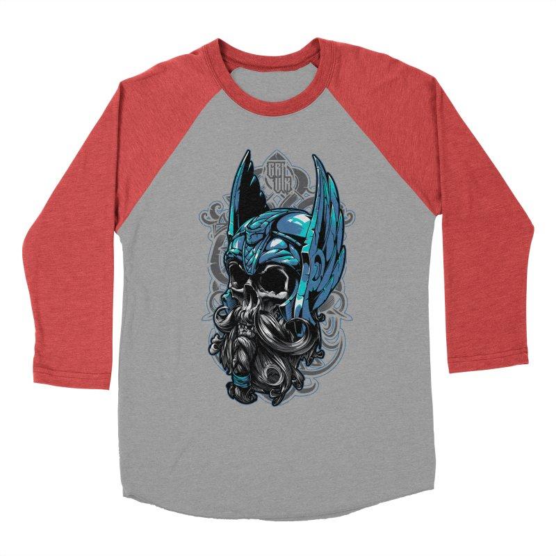 Skull viking Women's Baseball Triblend T-Shirt by fishark's Artist Shop
