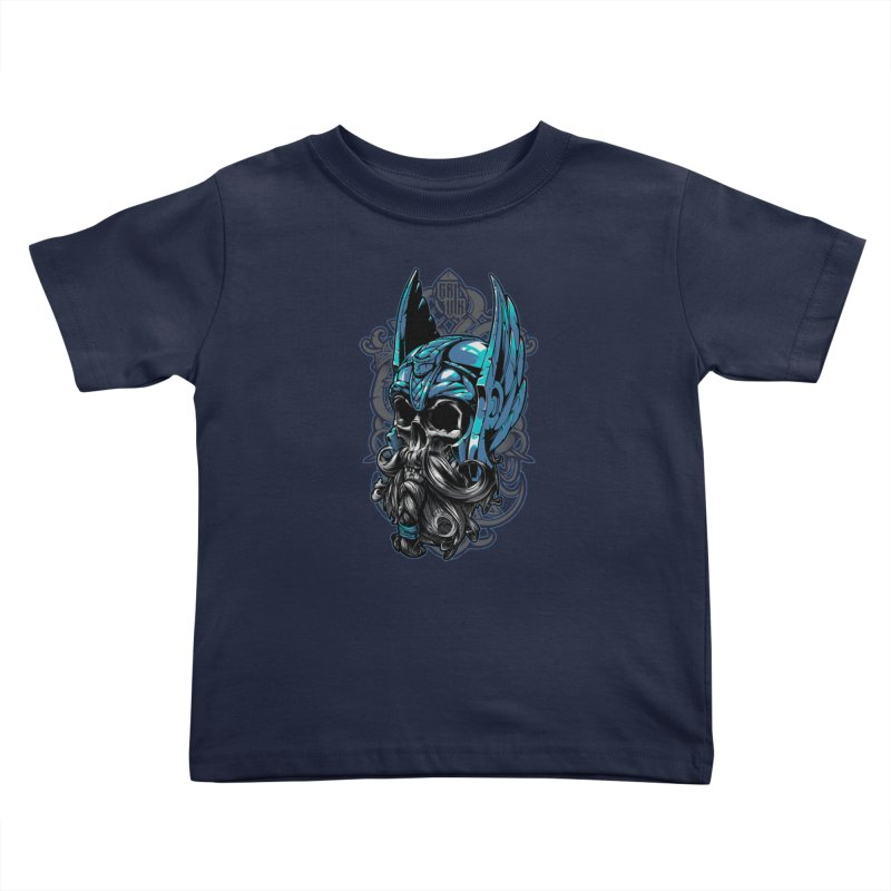 Skull viking Kids Toddler T-Shirt by fishark's Artist Shop