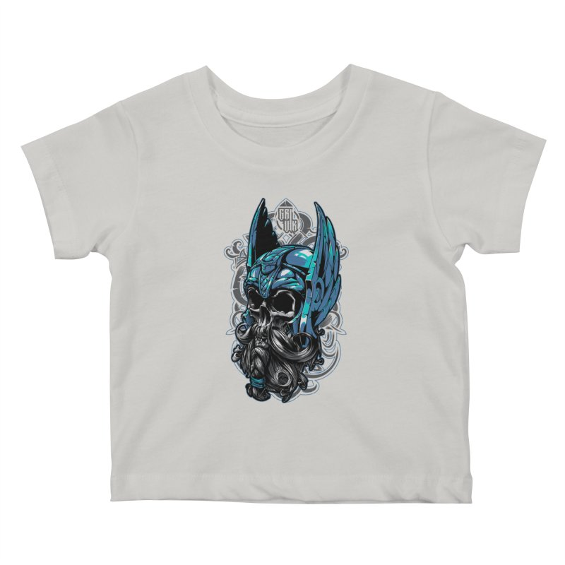 Skull viking Kids Baby T-Shirt by fishark's Artist Shop