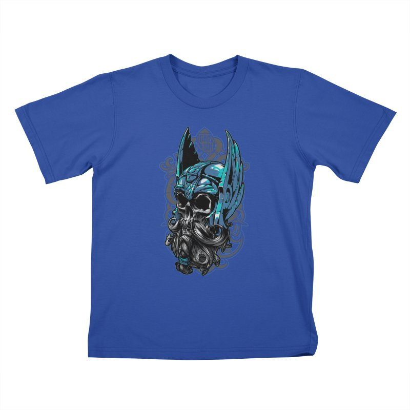 Skull viking Kids T-Shirt by fishark's Artist Shop