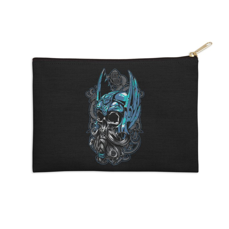 Skull viking Accessories Zip Pouch by fishark's Artist Shop