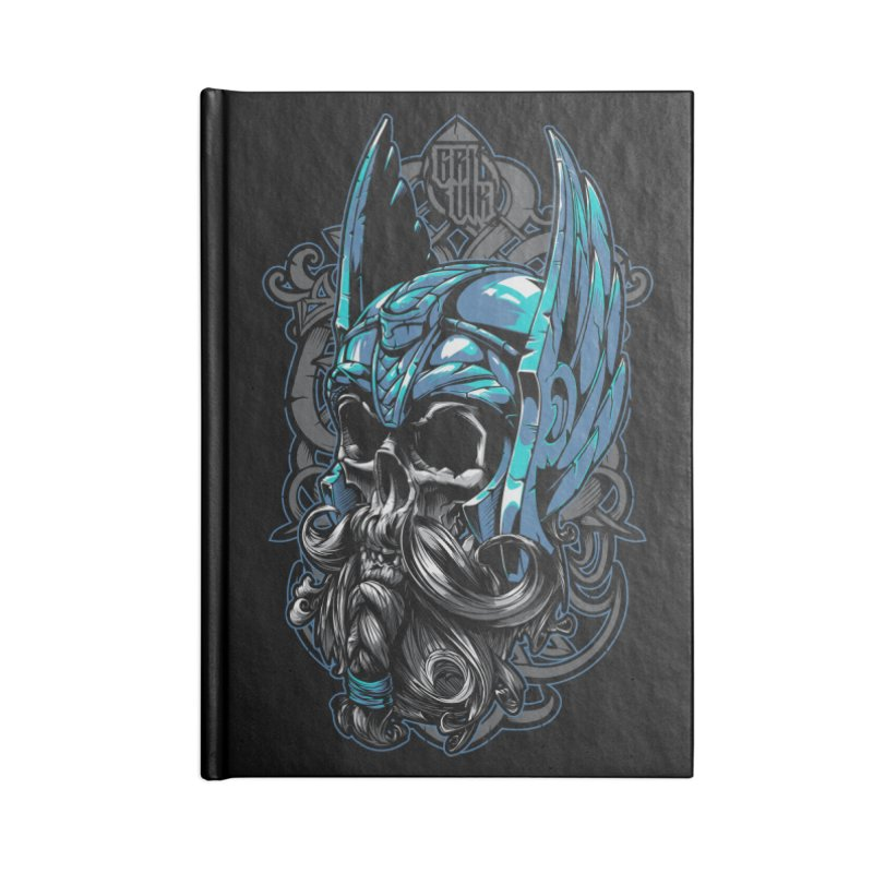 Skull viking Accessories Notebook by fishark's Artist Shop