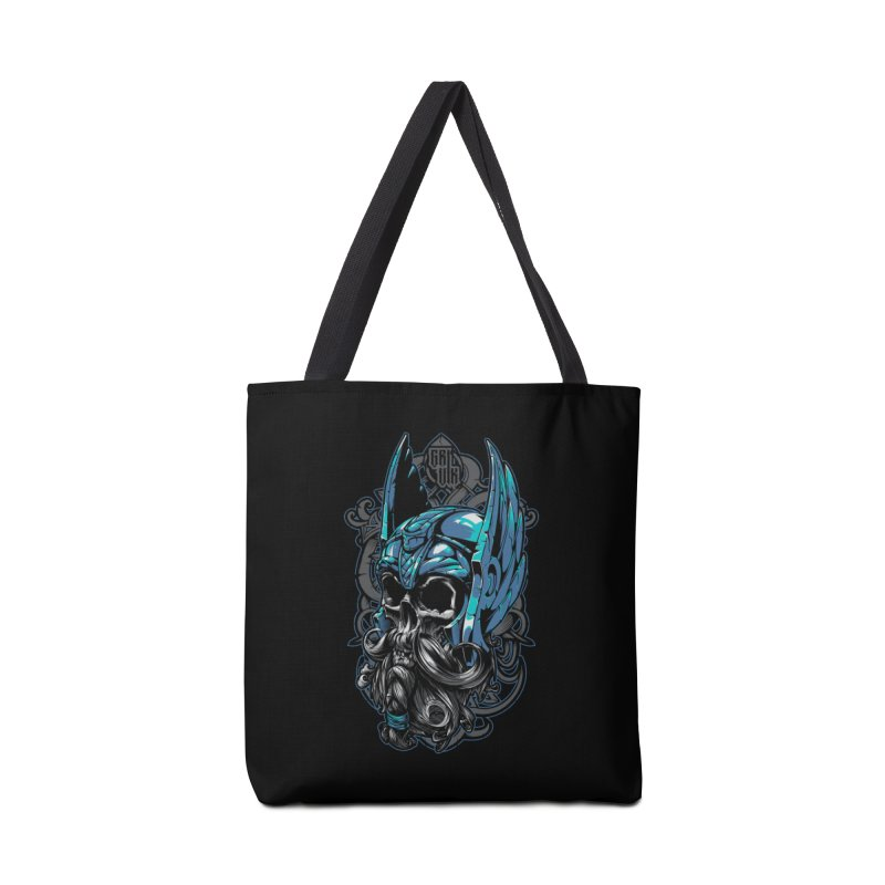 Skull viking Accessories Bag by fishark's Artist Shop
