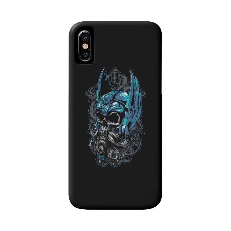 Skull viking Accessories Phone Case by fishark's Artist Shop