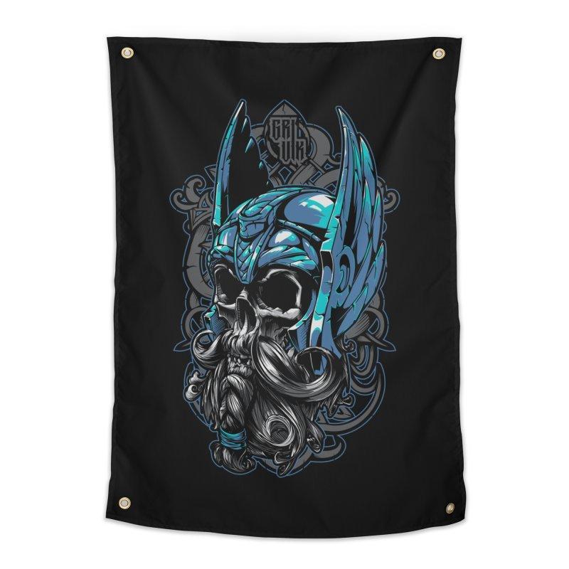 Skull viking Home Tapestry by fishark's Artist Shop