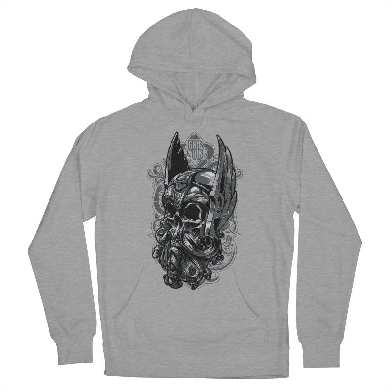 Skull viking Women's Pullover Hoody by fishark's Artist Shop