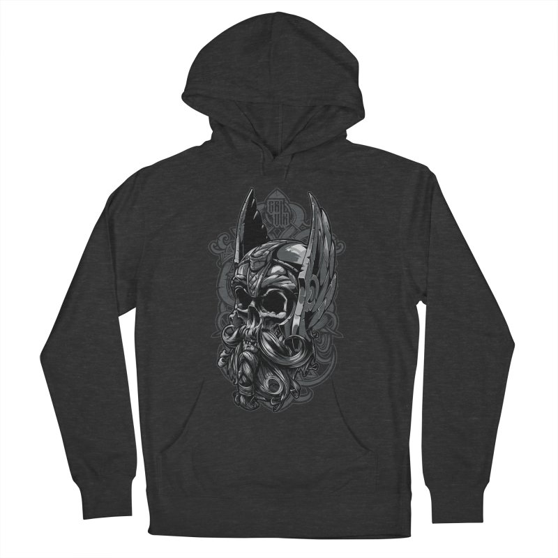 Skull viking Men's Pullover Hoody by fishark's Artist Shop