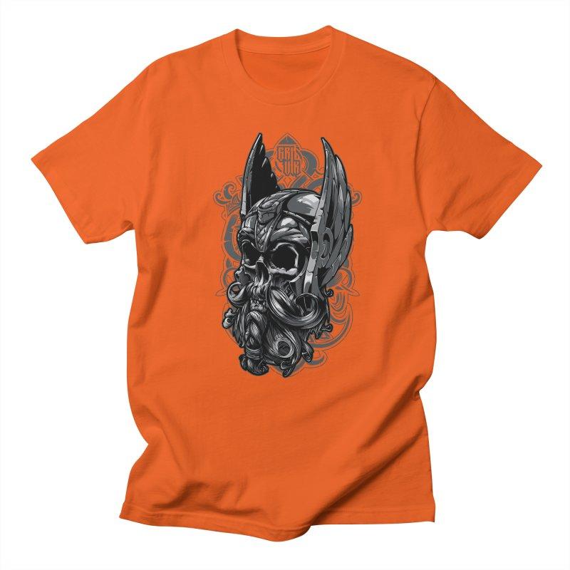 Skull viking Women's Unisex T-Shirt by fishark's Artist Shop