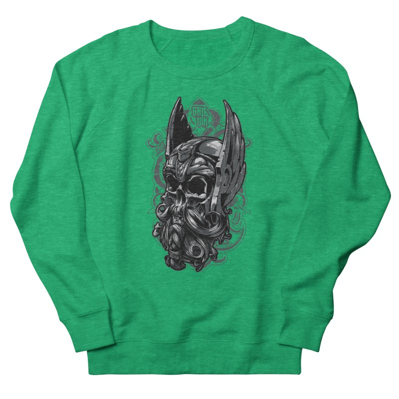 Skull viking Women's Sweatshirt by fishark's Artist Shop