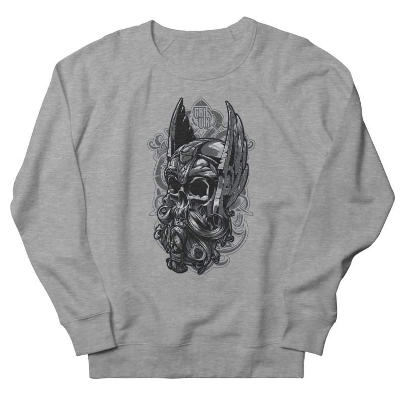 Skull viking Men's Sweatshirt by fishark's Artist Shop