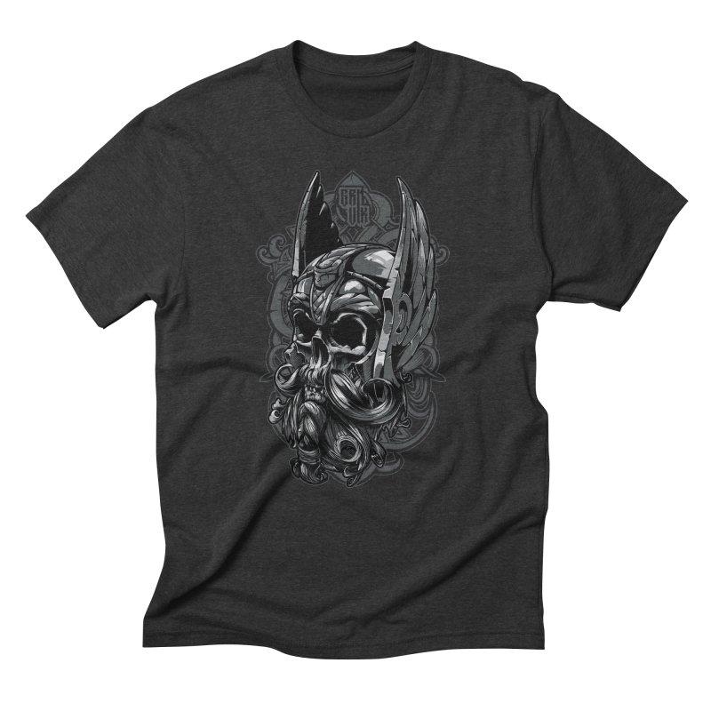Skull viking Men's Triblend T-Shirt by fishark's Artist Shop