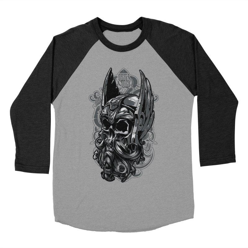 Skull viking Men's Baseball Triblend T-Shirt by fishark's Artist Shop