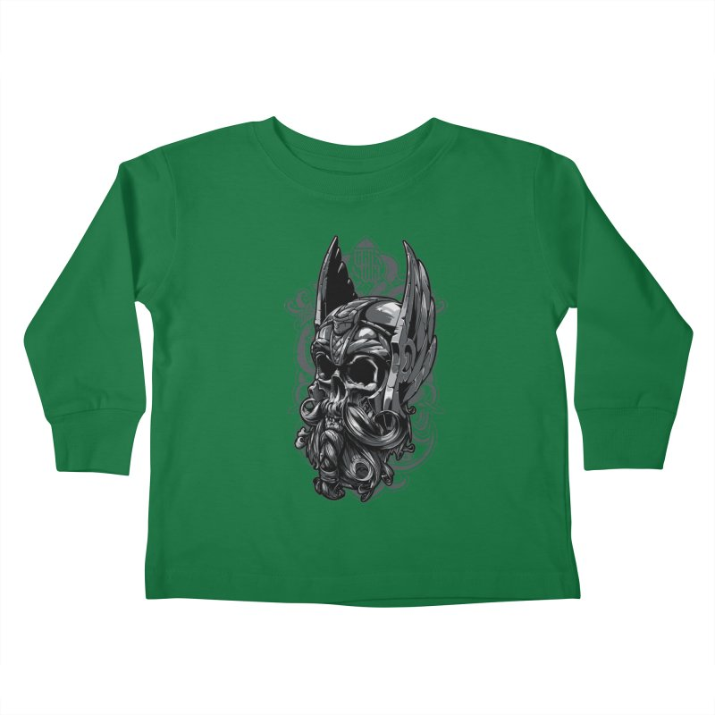 Skull viking Kids Toddler Longsleeve T-Shirt by fishark's Artist Shop