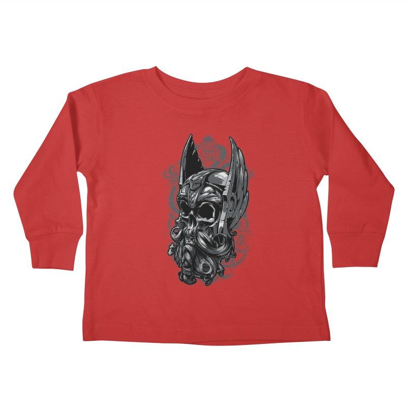 Skull viking Kids Toddler Longsleeve T-Shirt by fishark's Artist Shop