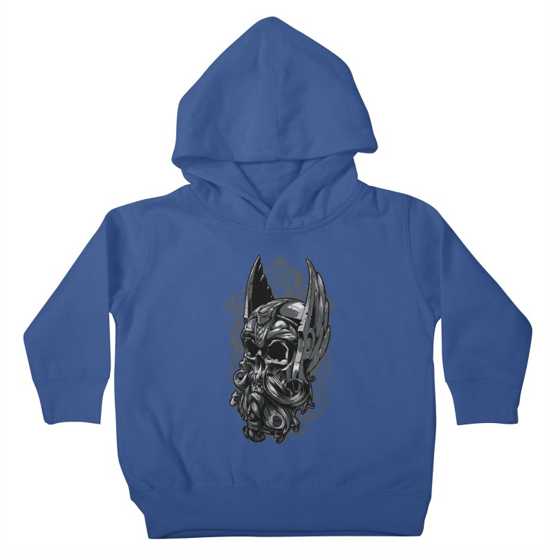 Skull viking Kids Toddler Pullover Hoody by fishark's Artist Shop