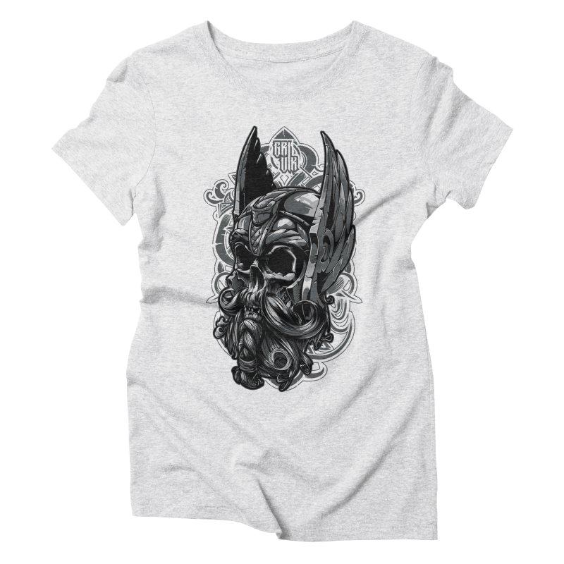 Skull viking Women's Triblend T-Shirt by fishark's Artist Shop