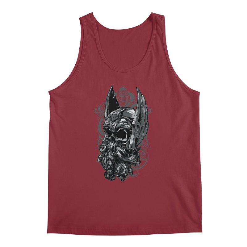 Skull viking Men's Tank by fishark's Artist Shop