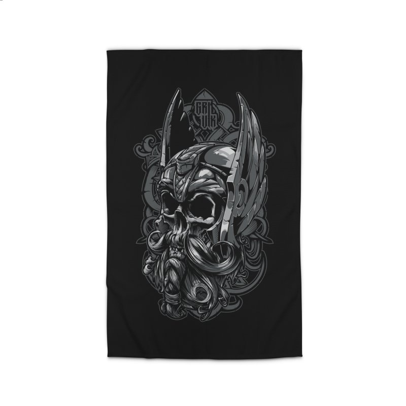 Skull viking Home Rug by fishark's Artist Shop