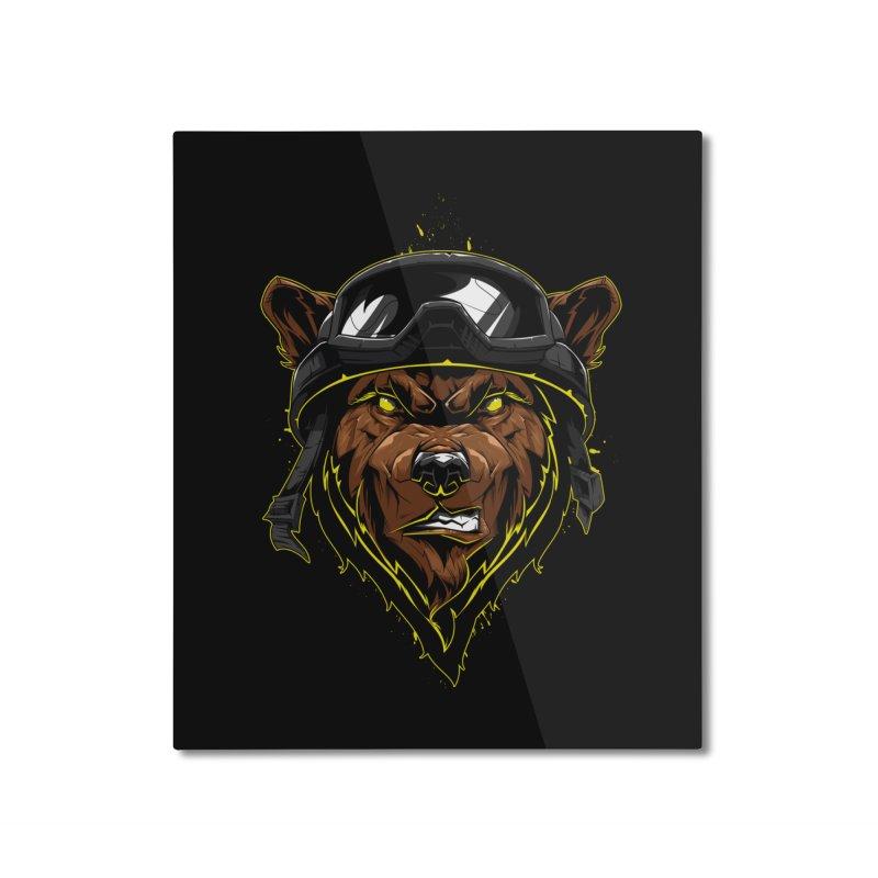 Bear Home Mounted Aluminum Print by fishark's Artist Shop