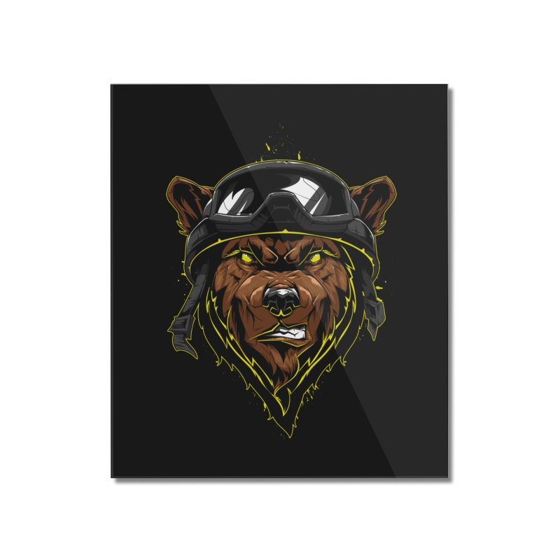 Bear Home Mounted Acrylic Print by fishark's Artist Shop