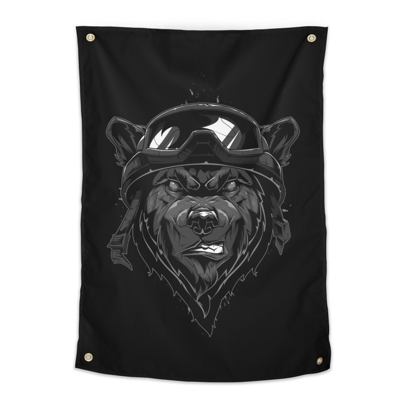 Bear Home Tapestry by fishark's Artist Shop