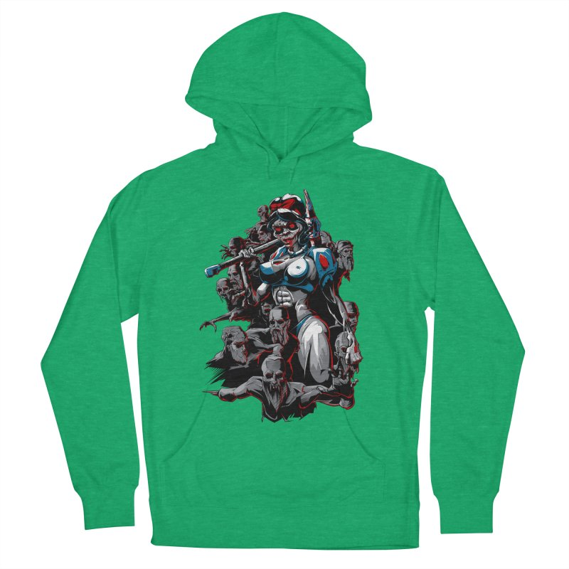 zombie snow white and dwarfs 666 Women's French Terry Pullover Hoody by fishark's Artist Shop