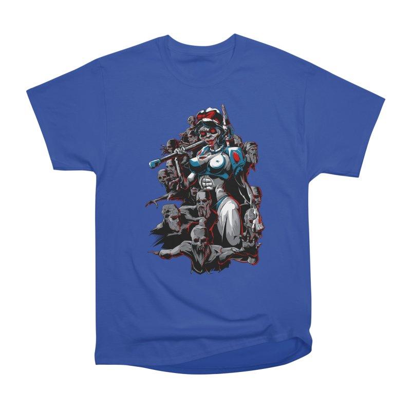 zombie snow white and dwarfs 666 Women's Heavyweight Unisex T-Shirt by fishark's Artist Shop