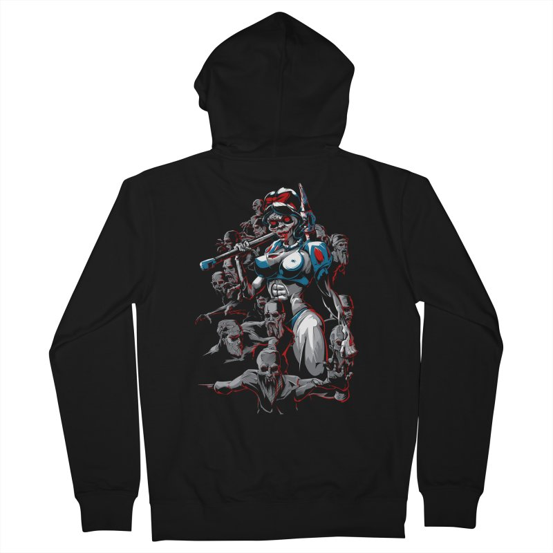zombie snow white and dwarfs 666 Women's French Terry Zip-Up Hoody by fishark's Artist Shop