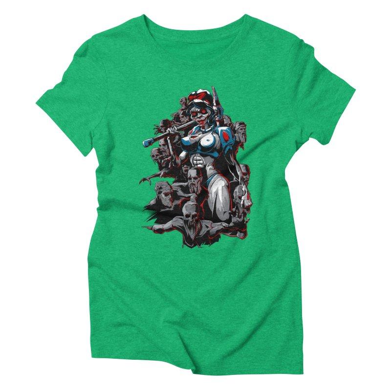 zombie snow white and dwarfs 666 Women's Triblend T-Shirt by fishark's Artist Shop
