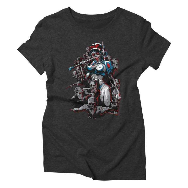 zombie snow white and dwarfs 666 Women's Triblend T-Shirt by fishark's Artist Shop