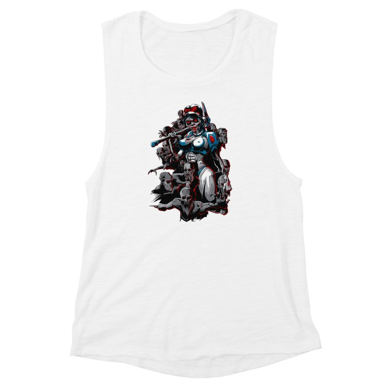 zombie snow white and dwarfs 666 Women's Muscle Tank by fishark's Artist Shop