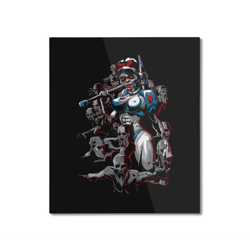 zombie snow white and dwarfs 666 Home Mounted Aluminum Print by fishark's Artist Shop