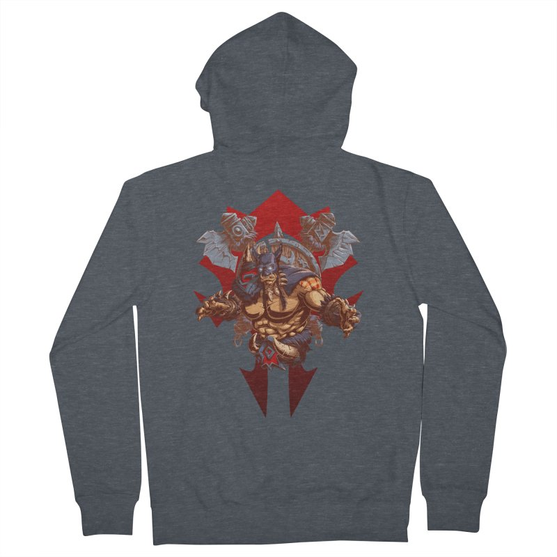 Rexxar War Craft Men's French Terry Zip-Up Hoody by fishark's Artist Shop