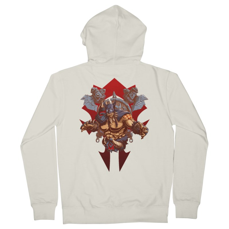 Rexxar War Craft Men's Zip-Up Hoody by fishark's Artist Shop