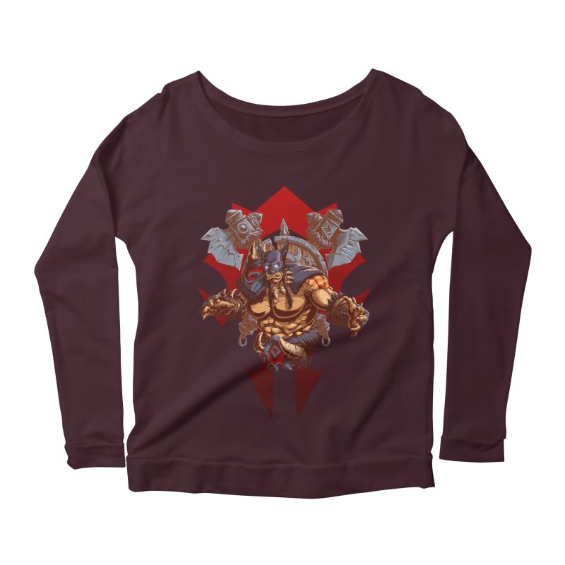 Rexxar War Craft Women's Longsleeve Scoopneck  by fishark's Artist Shop