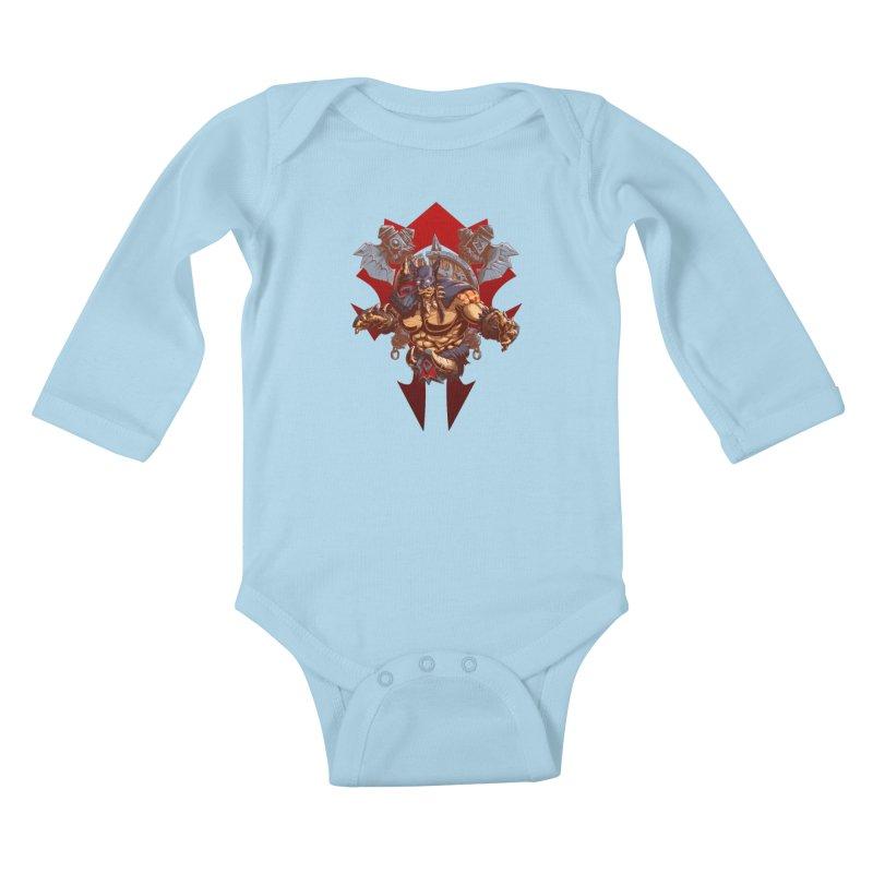Rexxar War Craft Kids Baby Longsleeve Bodysuit by fishark's Artist Shop
