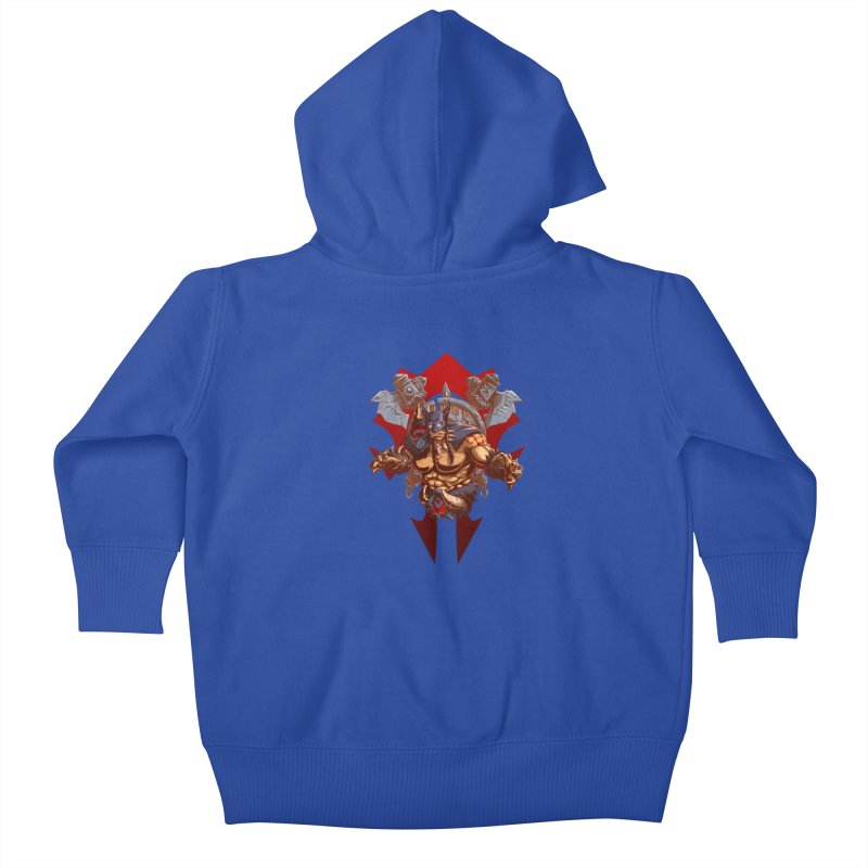 Rexxar War Craft Kids Baby Zip-Up Hoody by fishark's Artist Shop