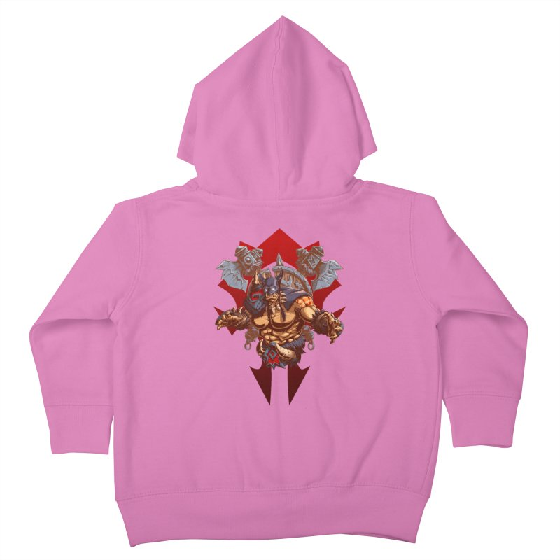 Rexxar War Craft Kids Toddler Zip-Up Hoody by fishark's Artist Shop