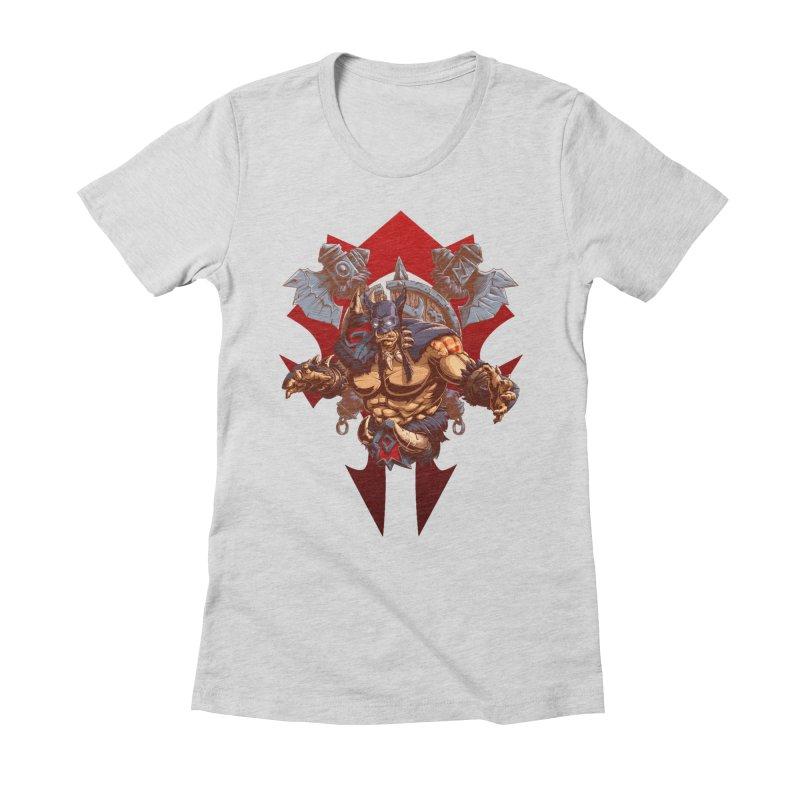 Rexxar War Craft Women's Fitted T-Shirt by fishark's Artist Shop