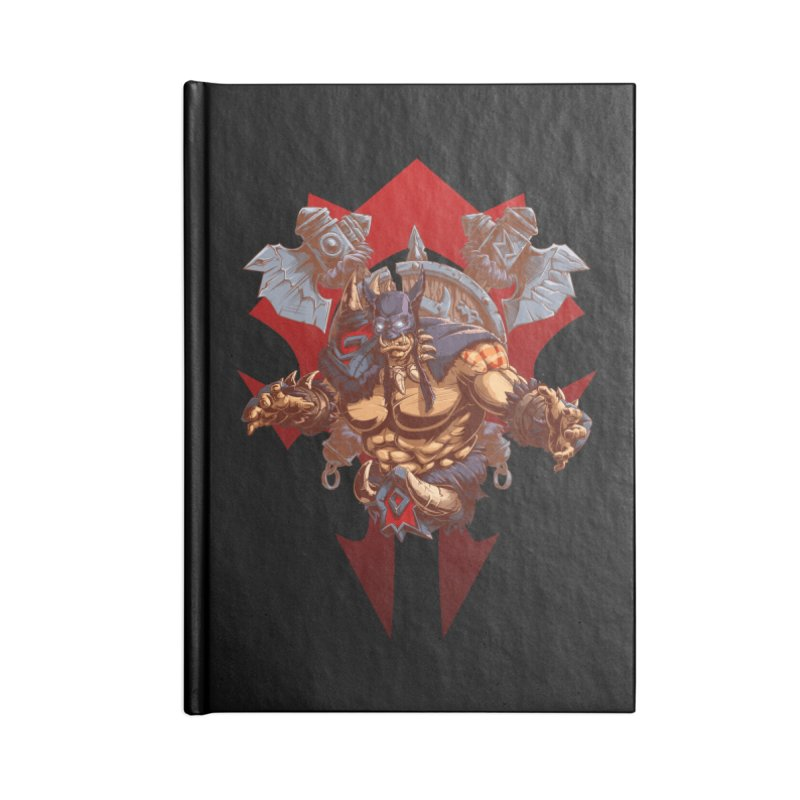 Rexxar War Craft Accessories Notebook by fishark's Artist Shop