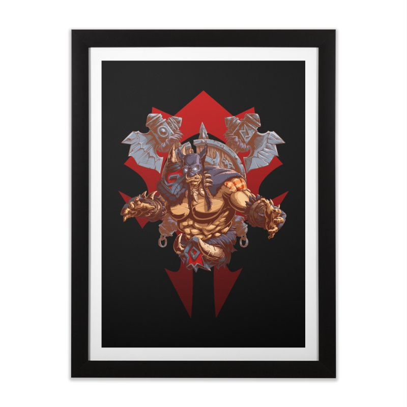 Rexxar War Craft Home Framed Fine Art Print by fishark's Artist Shop